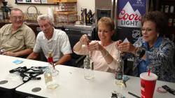 Thank goodness we learned how to thread a needle back in the day!  L-R:  Gary Cloyd, Rob Morris, Nancy Strasheim Nagel a
