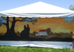 Our tent site mural 'Gone With The Wind' theme painted by Dee Graeber Patterson's husband, Don.